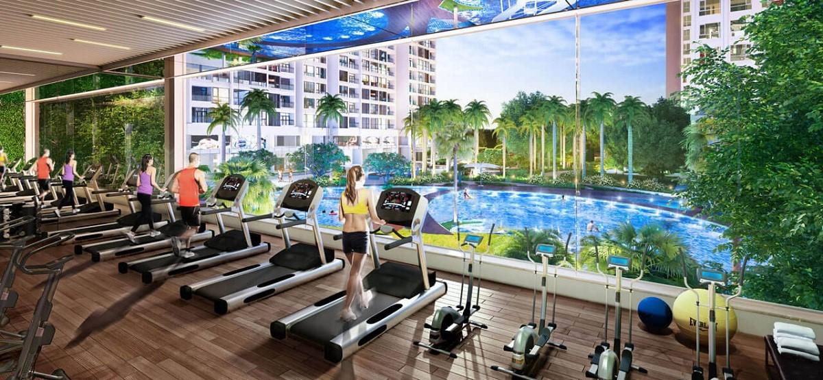 Phòng tập gym chung cư goldlight complex