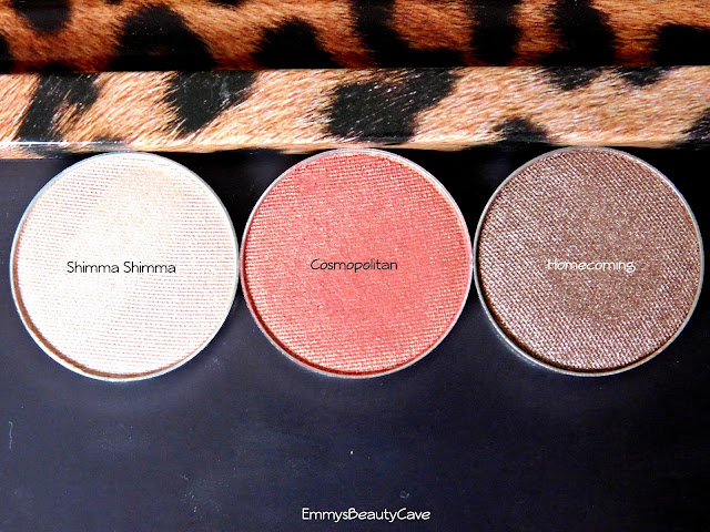 Makeup Geek Shimmer Eye Shadows Shimma Shimma, Cosmopolitan and Homecoming