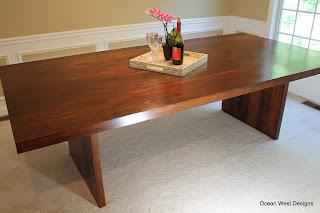 Custom Modern Walnut Table