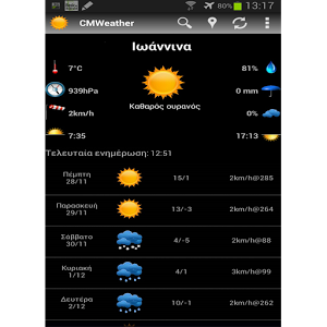 https://play.google.com/store/apps/details?id=com.christos.cmweather
