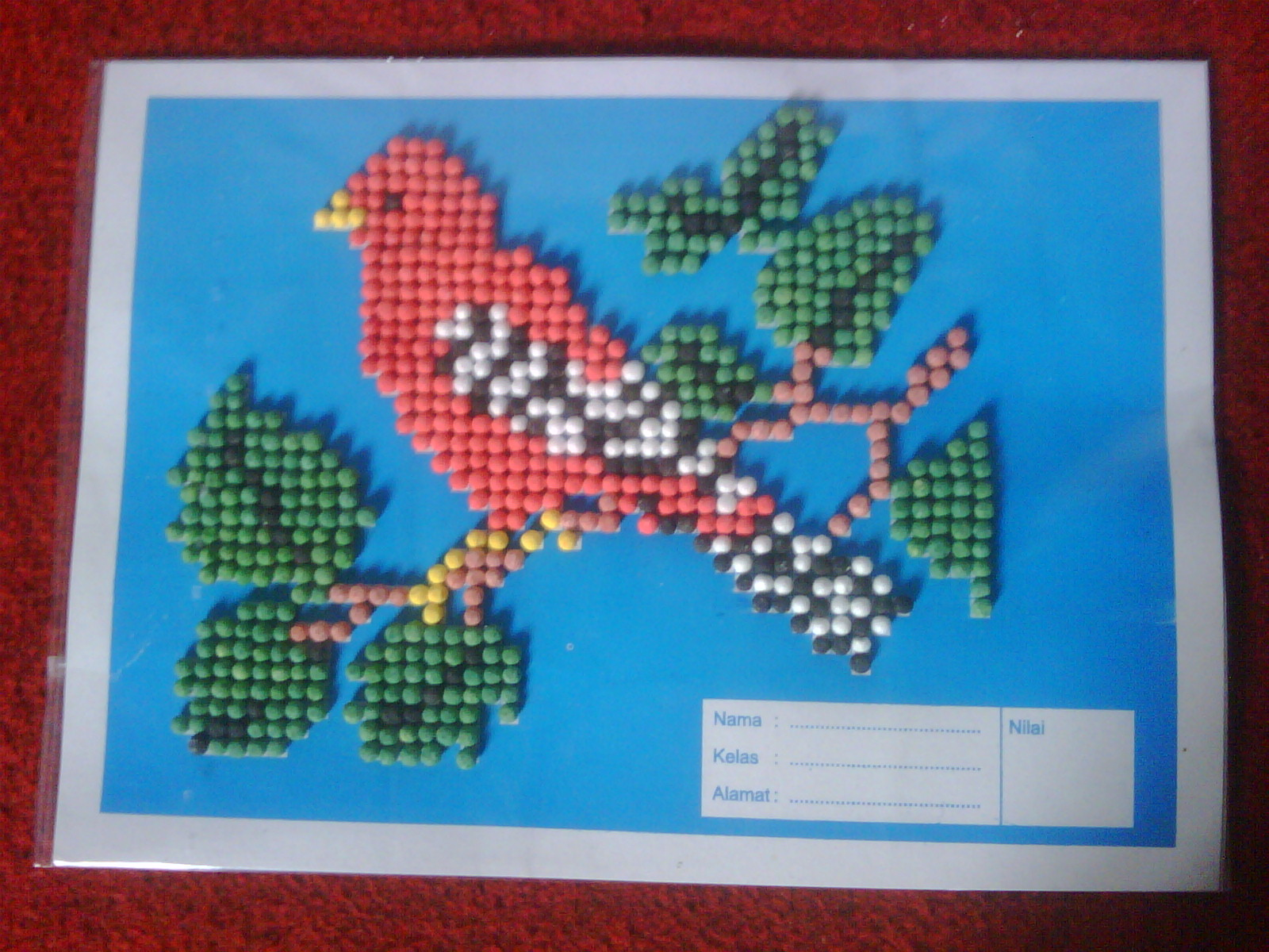 Gambar Mozaik Burung
