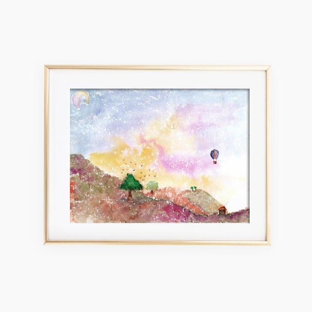 Mystical Landscape Watercolor Painting