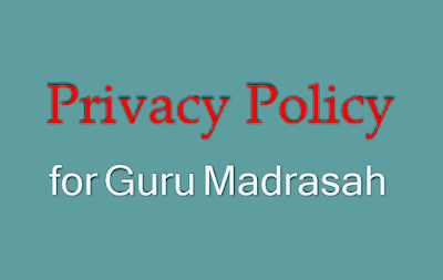 privacy policy for guru madrasah