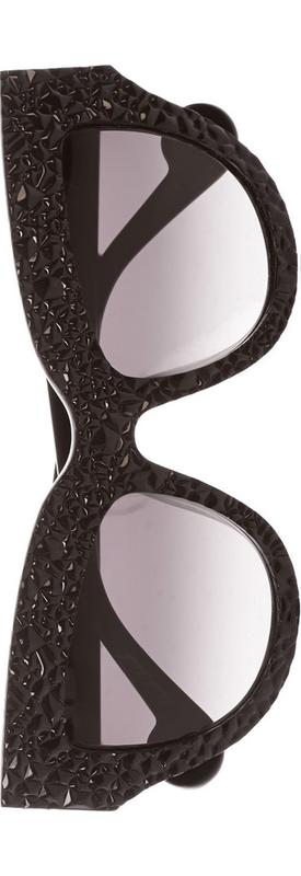 ANNA-KARIN KARLSSON Lush Lily Cat-Eye Textured-Acetate Sunglasses