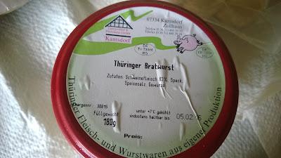 Thüringer Bratwurst in Glas sieht aus wie Hack