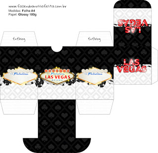 Caja para Imprimir Gratis de Fiesta de Las Vegas.