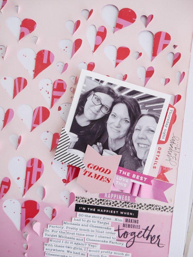 Heidi Swapp Color Fresh Meets Paige Evans Silhouette Cut by Jamie Pate | @jamiepate