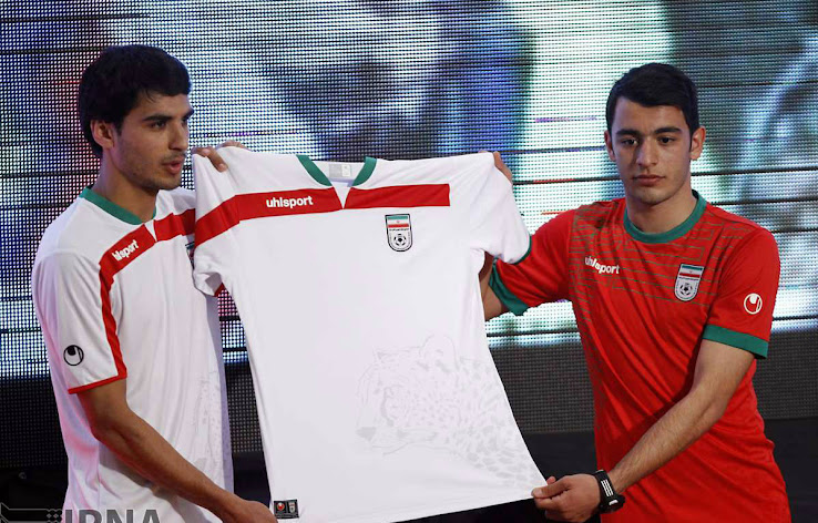 e087792be20 The watermark of the Iranian cheetah is comes in a light grey. The new Iran  Home Kit comes with the traditional colors of the Iran National team kits  and is ...