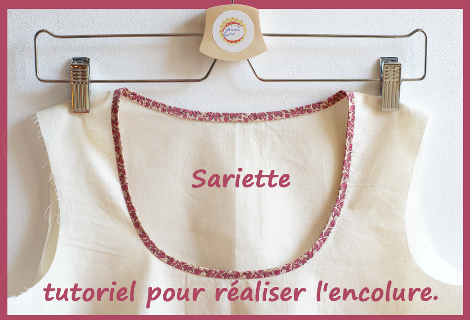 encolure de la blouse sariette