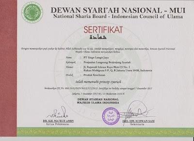 MUI (Majelis Ulama Indonesia) memberikan sertifikat SYARIAH pada perusahaan TIENS