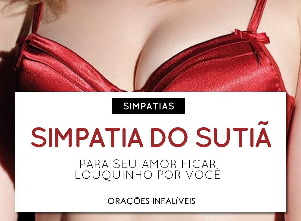 simpatia do sutiã