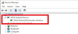Asus Android bootloader Interface