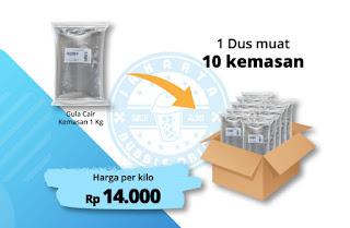 jual gula cair kiloan