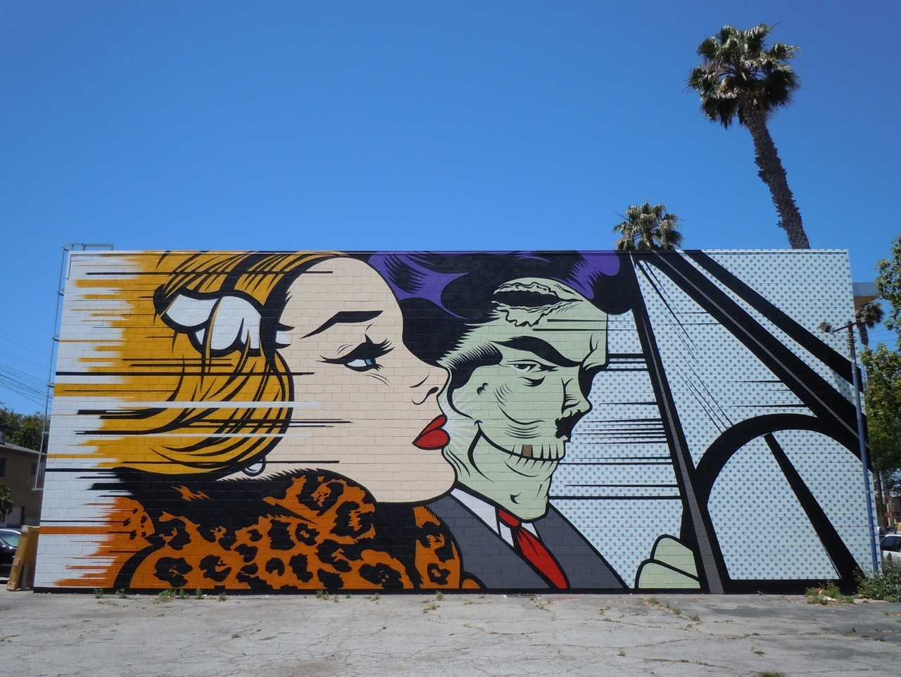 Zombie Pop Art Wall Mural At Corey Helford Gallery... ~ Jason In Hollywood Part 69