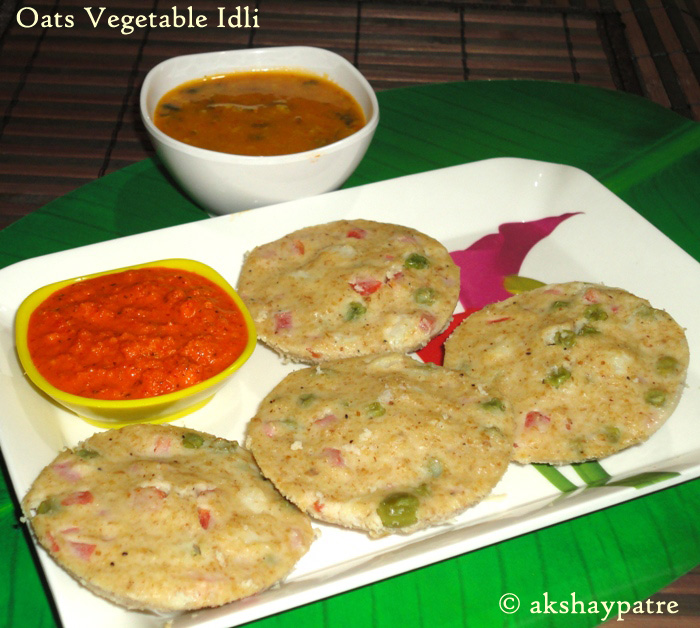 Oats vegetable idli ready to serve-image