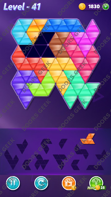 Block! Triangle Puzzle Grandmaster Level 41 Solution, Cheats, Walkthrough for Android, iPhone, iPad and iPod