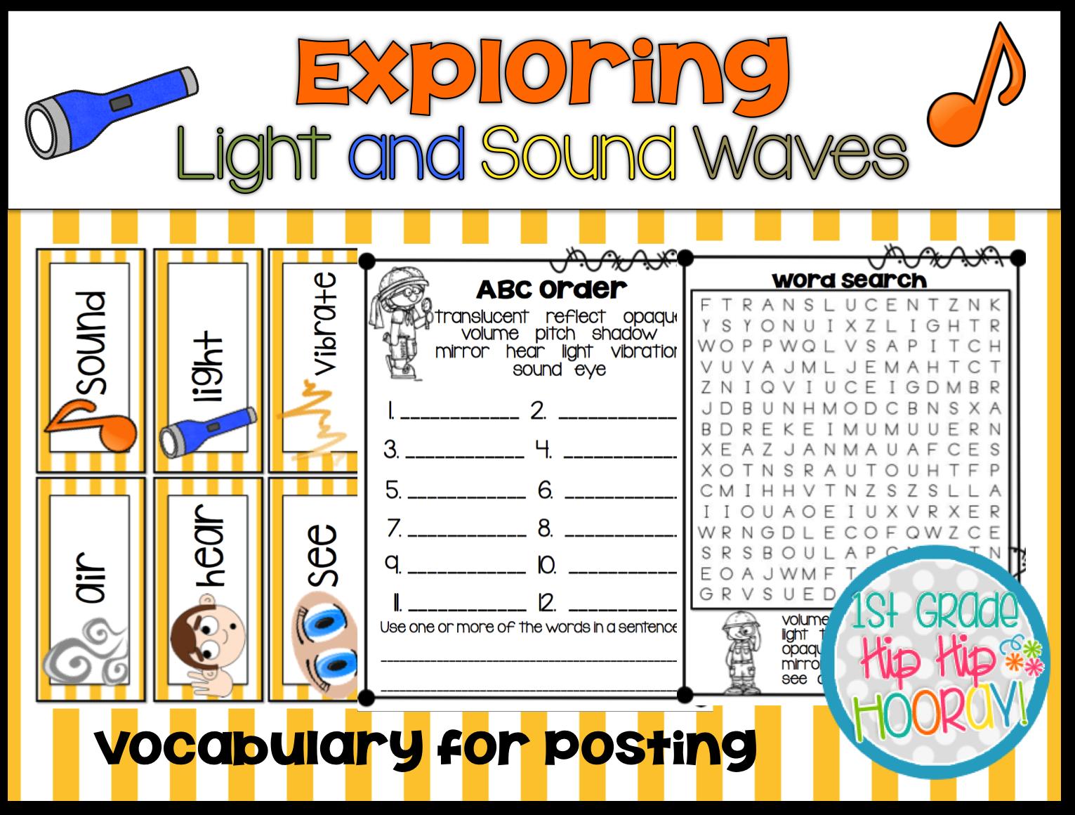 1st Grade Hip Hip Hooray Exploring Light And Sound Waves