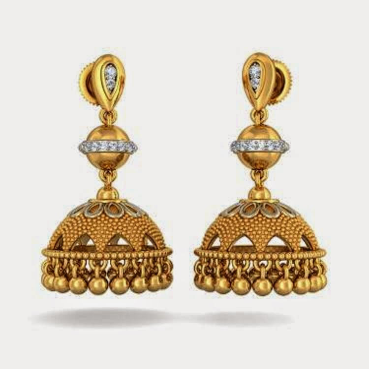 Free Download HD Wallpapers: Latest Gold Jhumka Earring ...