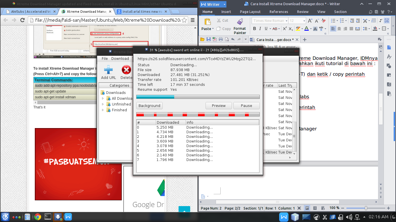 Cara Install Xtreme Download Manager, IDMnya Linux