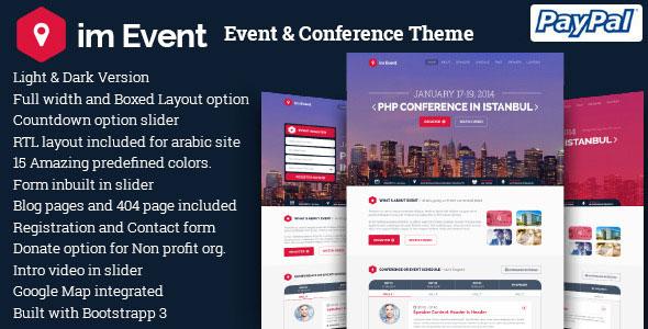 im Event 2.9.3 – Event & Conference WordPress Theme