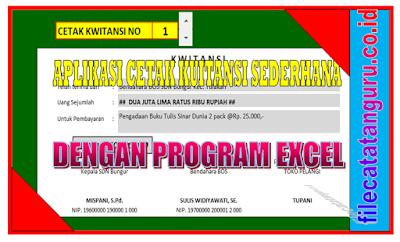 Aplikasi Excel  cetak format kuitansi 3 warna yang keren