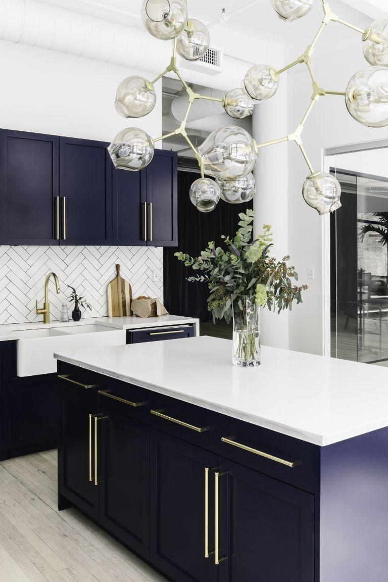 Byelisabethnl New Blue Kitchen For Ny City Based Interior Design Company Homepolish