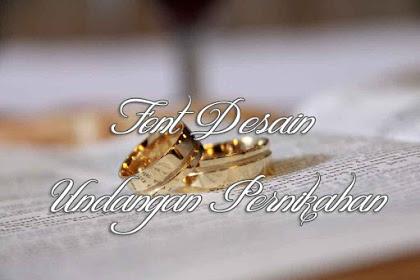 27 Download Font Undangan Pernikahan Gratis dan Menarik