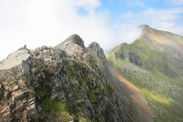 Crib Goch ridge, Mount Snowdon, Crib Goch Route, Wales, 3 peaks