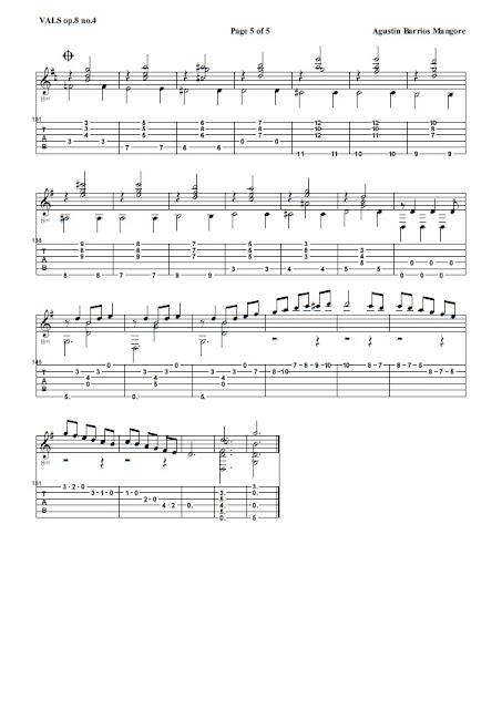 Vals op.8 n.4 Partitura