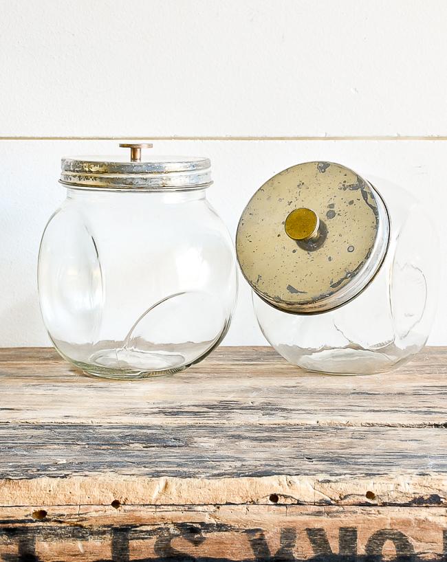 Industrial Dollar Tree storage jars