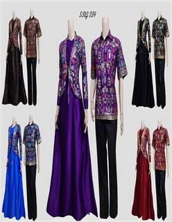 Model Baju Batik Couple Dress Panjang