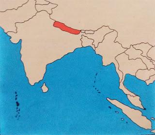 Gambar Peta letak negara nepal