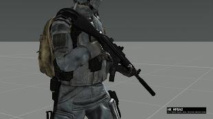 多数の再装填アニメーション付きの武器をArma 3 へ追加するHLC MODのMP5パックの MP5A2