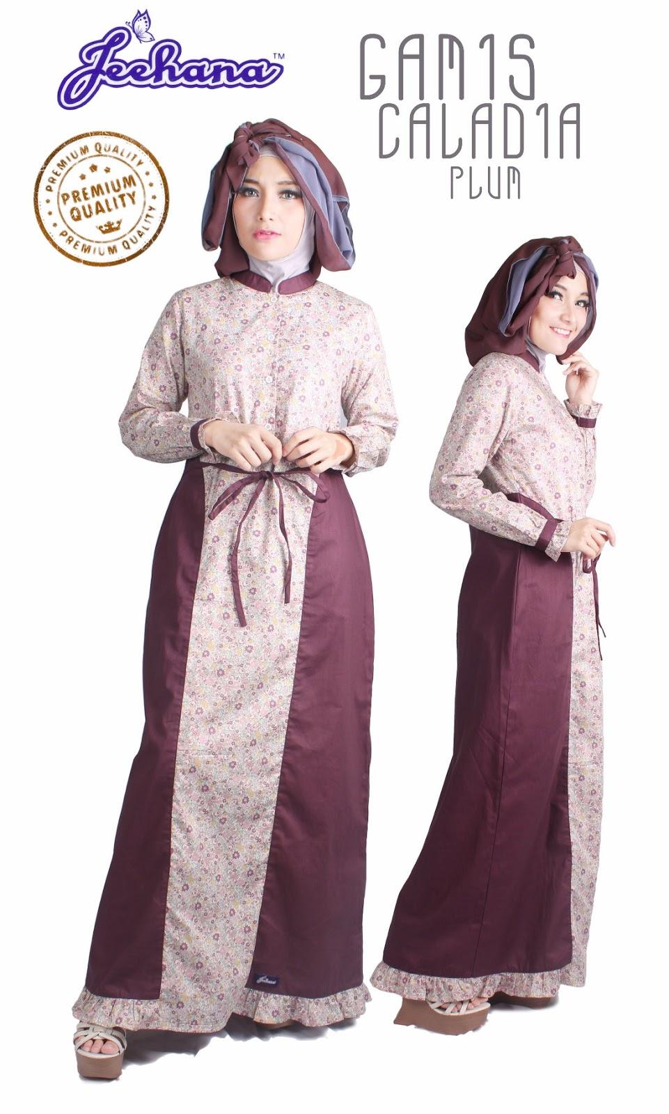 Baju Muslim Terbaru 2018 Online Baju Gamis Caladia By Jeehana