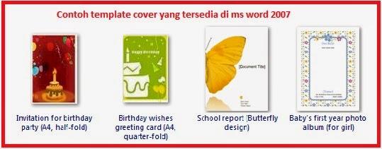 Bagaimana cara membuat cover di Microsoft word 2007?
