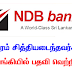 We are Hiring - NDB Bank