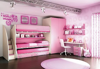 Habitación rosa para hermanas