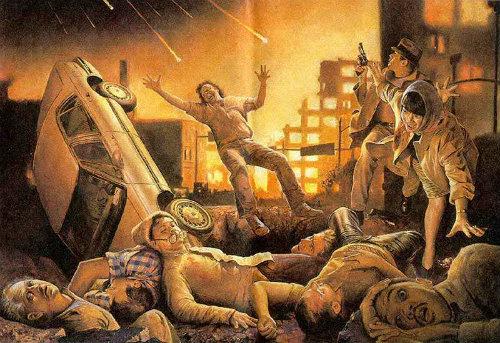Fim do mundo, segundo ilustração de uma publicação das Testemunhas de Jeová