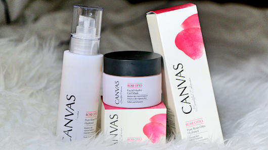 CANVAS: Review Of The Australian Aromatherapy Beauty Products, Pure Rose Otto Hydrosol & Rose Otto Facial Hydro Gel Mask