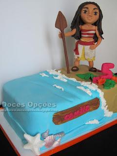 bolo aniversário princesa Vaiana