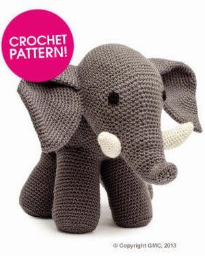 Crochet Patterns Elephant : 2000 Free Amigurumi Patterns: Free Elephant Crochet pattern