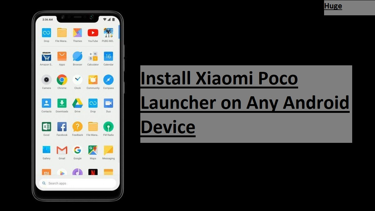 Install Xiaomi Poco Launcher on Any Android Device