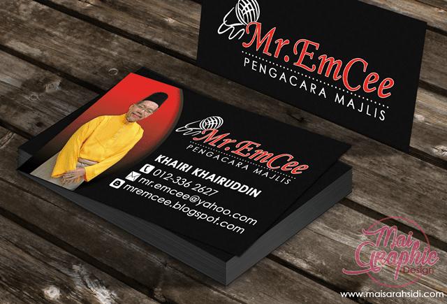 Design dan Cetak Kad Nama Mr.Emcee