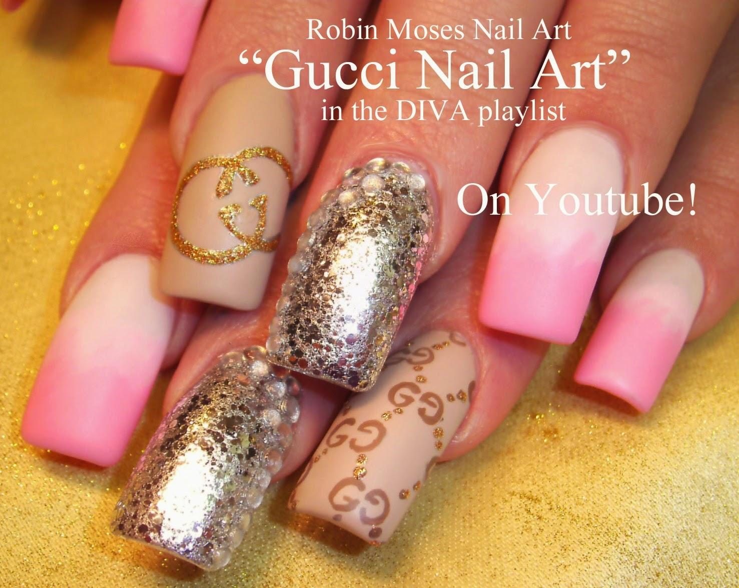 Nail Art By Robin Moses Diva Nails Diva Nail Art Long Nail Art