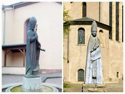 Beelden van St. Willibrord in Waxweiler en Echternach