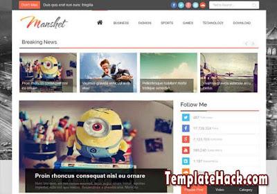 manshet magazine blogger template