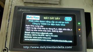 màn hình HMI Samkoon 4.3 inch SK-043AE trong máy cắt dây đai tự động do công ty Auto Vina bán
