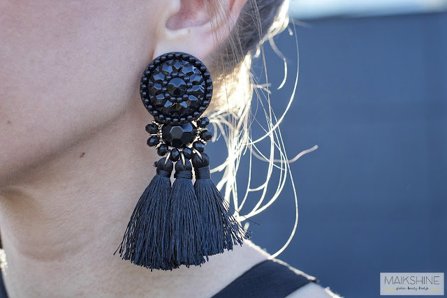 Tassels maxi earrings