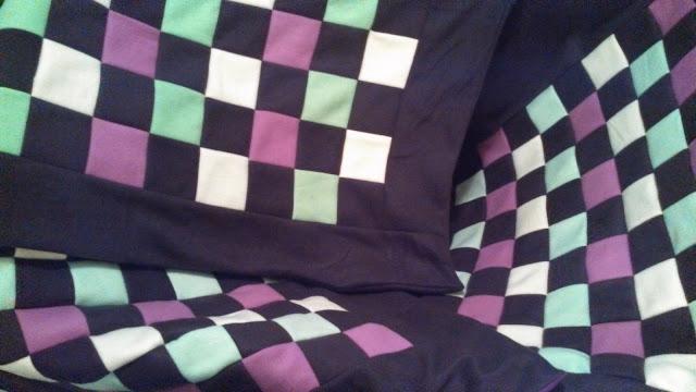 Patchwork fleece baby quilts