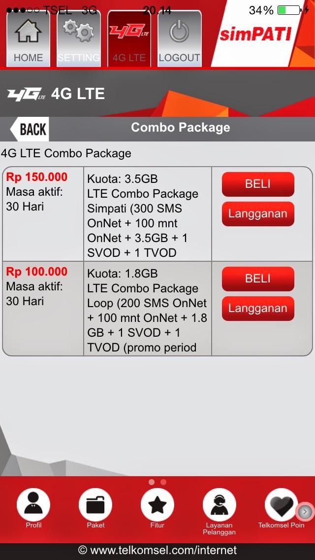 Daftar Registrasi Paket Internet 4G LTE Telkomsel Kartu Simpati Indosat f3c2ededa4